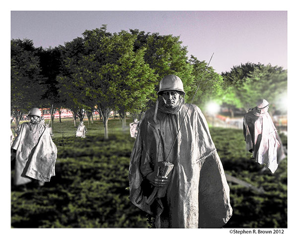 Korea Memorial at Night